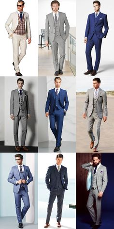 Men's Summer Wedding Outfit Inspiration - Three-Piece Suits Lookbook