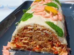 Pastel frío de pan de molde Ana Sevilla cocina tradicional Mexican Food Recipes, Vegetarian Recipes, Ethnic Recipes, Sandwich Cake, Sandwiches, Kitchen Dishes, Love Food, Salad Recipes, Tapas