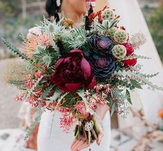 Looking for a stunning and unique bouquet for your wedding? Check out our top 10 gorgeous bouquets of the year!   Wild, boho and romantic bouquet   Always Flawless Productions   San Diego's Best Wedding Planner   Top 10 Bouquets Of The Year