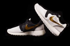 """Nike Roshe Run Hyperfuse """"Gold Trophy"""" they only come in men's. Great combination of colors and easy to match!"""