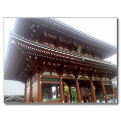 Hozomon Gate Sensoji Temple #Japan #Asakusa #sensoji #temple http://www.zazzle.com/hozomon_gate_sensoji_temple_postcard-239947829067891741