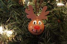 Upcycled Golf Ball Reindeer Ornament by BeyondBottles on Etsy, $4.00