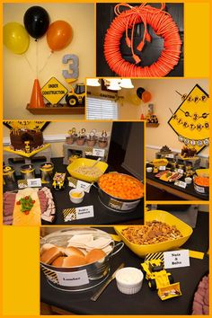 construction birthday party -considering how much keean loooves trucks this is perfect. So cute