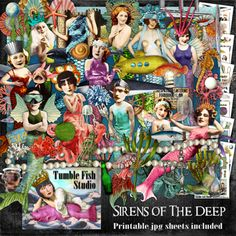Tumble Fish Studio's Sirens of the Deep kit #MischiefCircus2016