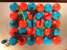 Cupcake snakes and ladders