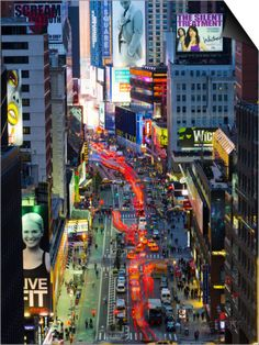 USA, New York, Manhattan, Midtown, Broadway Towards Times Square Poster by Alan Copson - at AllPosters.com.au