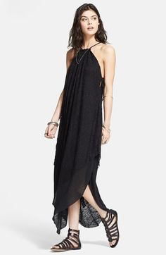 Free People 'Olympia' Lace Overlay Maxi Dress available at #Nordstrom
