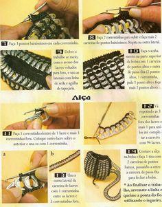 DIY : Sac languettes au crochet