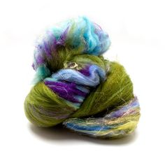 "art batt | Fiber Batt, Art Batt, Fiber Art Batt for Spinning or Felting- ""Ruffled ..."
