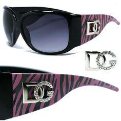 Dg Women Fashion Oversized Animal Print Designer Sunglasses - Pink  Zebra Dg174B