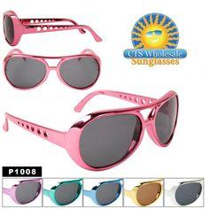 """Wholesale ~ """"Elvis"""" ~ Party Sunglasses P1008 (12 pcs.) (Assorted Colors)"""