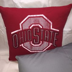 A personal favorite from my Etsy shop https://www.etsy.com/listing/270028658/osu-ohio-state-block-o-t-shirt-pillow