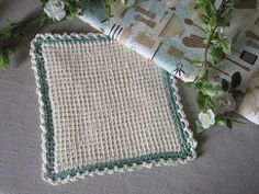 Miss Abigail's Hope Chest: Tutorial - Tunisian Crochet Dishcloth - I'm thinking about making hot pads with this pattern.
