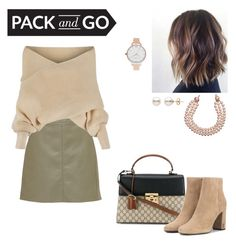 """""""pack and go"""" by arianna-atzori ❤ liked on Polyvore featuring WithChic, Gucci, Yves Saint Laurent, Olivia Burton, Chanel and Packandgo"""