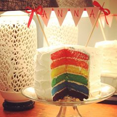 rainbow birthday cake - looking fir inspiration for Charlie's my little pony party