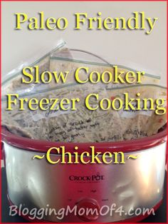 """Slow Cooker Cashew Chicken -  2 lbs chicken breasts ½ tsp pepper ½ cup soy sauce ¼ cup apple cider vinegar ¼ cup ketchup 2 Tbsp brown sugar 2 cloves garlic, minced 1 tsp grated ginger Add chicken to ziploc bag. Mix all other ingredients together and then add to ziploc bag. Write instructions on bag and freeze. Write on Bag: """"Thaw slightly and add to slow cooker. Cook on low for 4-6 hours. Add 1/2 cup cashews, stir and serve."""""""