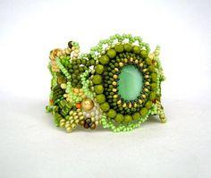 Beaded jewelry Beadwork bracelet Seed beads bracelet cuff by ibics, $79.00