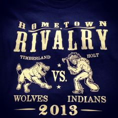 Shirt Kong: #Rivalry #tshirts we just printed for #Timberland #highschool…