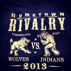 Shirt Kong: #Rivalry #tshirts we just printed for #Timberland #highschool…