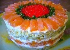 Слоеный салат с семгой - пошаговый рецепт с фото. Автор рецепта Тамара . - Cookpad
