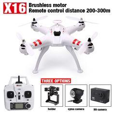 새로운 Bayang X16 브러시리스 FPV 드론 헤드리스 모드 300 메터 거리 2MP 와이파이 카메라 또는 14MP HD 카메라 Rc 쿼드 콥터 VS MJX X102H