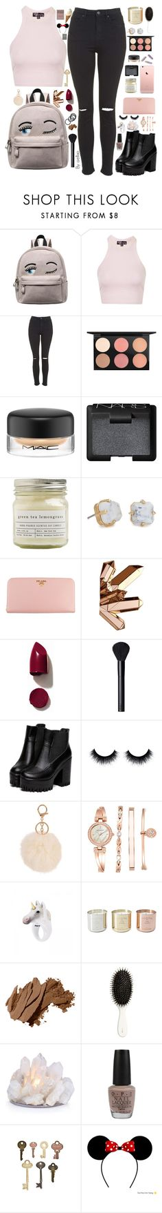 """""""Thanks for 1000 followers 💕💕💕"""" by ellixo ❤ liked on Polyvore featuring Topshop, MAC Cosmetics, NARS Cosmetics, Brooklyn Candle Studio, Lele Sadoughi, Prada, Armitage Avenue, Anne Klein, Nach Bijoux and Tom Dixon"""