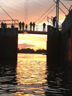 Photo by Amy Fullerton, De Pere locks at sunset. #DePere #PinItToWinIt