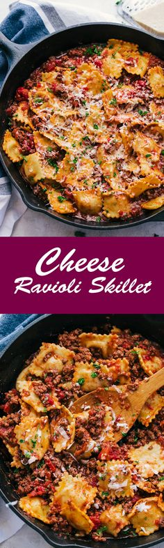 If you are looking for fast, cheesy, and delicious this Cheese Ravioli Skillet will be all you need to have dinner done in flash. #cheeseravioliskillet #cheeseravioli #cheese #ravioli #ravioliskillet #skilletmeals #TheFoodCafe #recipes #dinner #italianfood #foodgawker #cooking