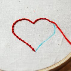 DIY: couching embroidery technique