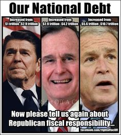 Let the truth be told. Now we have Romney and Ryan, who basically are following George W.