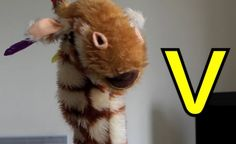 Let's look at the letter v with Geraldine the Giraffe
