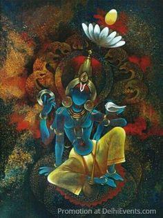 Lord Ganesha Paintings, Lord Shiva Painting, Buddha Painting, Krishna Painting, Buddha Art, Kerala Mural Painting, India Painting, Indian Art Paintings, Hare Krishna