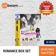DEAL OF THE DAY !  Romance - 10 Movies DVD Box Set at Lowest Rate from Infibeam's MagicBox !  #MagicBox #Deals #DealOfTheDay #Offer #Discount #LowestRates #Romance #Movies #DVD #BoxSet #Bollywood