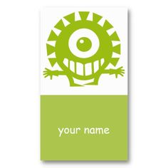 Cyclops Creature Kid's Profile or Business Card Template