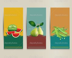 Health food brochure design. Bio vegetable and fruit. Brochure ...