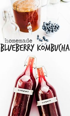 The homemade kombucha brewers are going to love this one! This Blueberry Kombucha recipe is delightfully fruity and easy to brew! It's a healthy drink idea that makes a fun fermentation project. Kombucha Flavors, Kombucha Scoby, Flavored Kombucha Recipe, Kombucha Brewing, Healthy Juices, Healthy Drinks, Detox Juices, Healthy Detox, Healthy Food