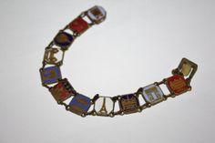 Vintage Paris Enamel Souvenir Bracelet 1940s Jewelry by patwatty, $50.00