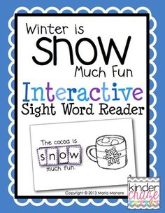 "Students cut and glue letters to spell ""snow"" in this emergent reader. Only $1"