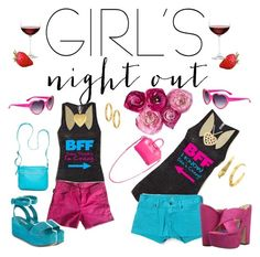 """""""#Girl's Night Out"""" by christinarussell33 ❤ liked on Polyvore featuring Nordstrom, Zadig & Voltaire, Lucky Brand, Luichiny, Prada, Bueno, Givenchy, Betsey Johnson, NOVICA and Fremada"""