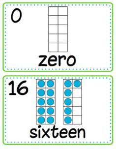 Ten Frame Number Cards