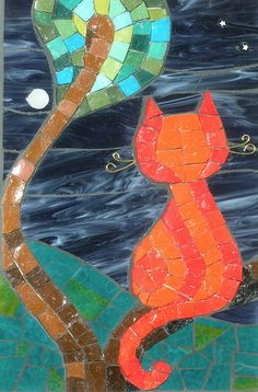 Moggie Moon by cbmosaics - Christine Brallier, via Flickr
