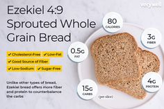 ezekiel bread and eggs - Google Search Ezekiel Bread Nutrition, Wheat Bread Nutrition, Ezekiel Bread Benefits, Food Nutrition, Protein Bread, Carbs Protein, Sprouted Whole Grain Bread, Fitness Models, Bread Alternatives