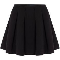 Polo Ralph Lauren Short pleated skirt ($165) ❤ liked on Polyvore featuring skirts, mini skirts, bottoms, short skirts, black, women, black skirt, pleated skirt, black miniskirt and mini skirt