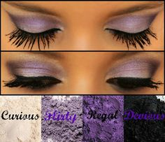 Younique pigments Curious; Flirty; Regal; Devious  https://www.lasheslipsandmore.com