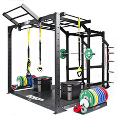 ESP Fitness Functional Frame ( Rig ) - The World's most functional and versatile high performance training frame transforms a standard lifting station into a high performance training area. The robust Functional Frame bolts neatly onto the Power Rack and fits over an integrated Lifting Platform. This product can be used for any suspension and 'Crossfit' training and includes a lifetime guarantee