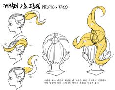 타코작가 (@taco1704) / Twitter Drawing Hair Tutorial, Manga Drawing Tutorials, Drawing Techniques, Drawing Sketches, Drawings, Body Reference Drawing, Anatomy Reference, Art Reference Poses, Design Reference