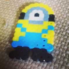 Minion perler beads by amiimprisoned