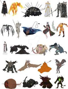 Demon's Souls bosses by DigitalCleo on DeviantArt