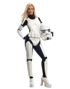 The force awakens with a feminine twist in this Deluxe Female Stormtrooper costume. You'll look streamlined and sleek in this Star Wars Stormtrooper costume. Star Wars Sith, Star Wars Stormtrooper Kostüm, Darth Vader Kostüm, Female Stormtrooper, Star Wars Dark, Costume Stormtrooper, Female Darth Vader Costume, Darth Vader Cosplay, Storm Trooper Costume Women
