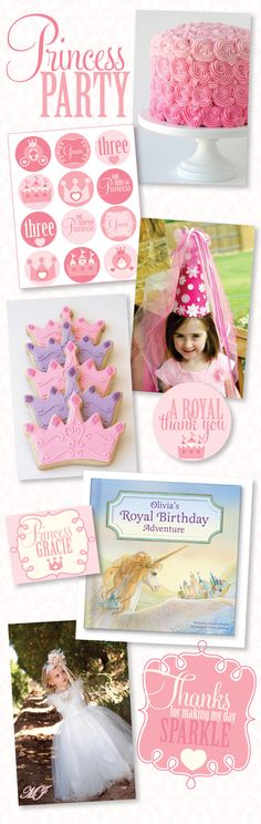 My Royal Birthday for girls featured on Love the Day party blog for princess party ideas!!